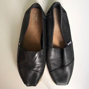 Leather black Men Toms